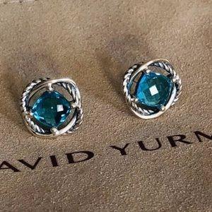 David Yurman Infinity Blue Topaz Earrings